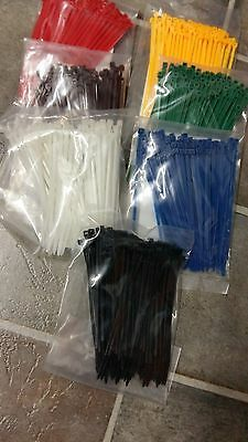 Assorted Coloured Cable Ties Size 100mm x2.5mm in Packets of 100