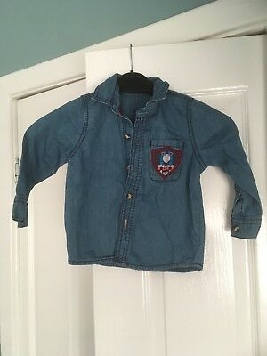 M&S Thomas And Friends Boys' Denim Shirt 12-18 Months