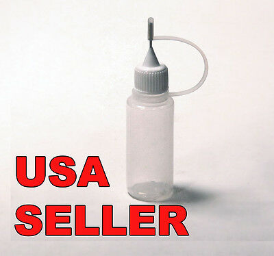 Plastic Dropper Bottle with Precision Metal Needle Tip 15 ml (1/2 oz)