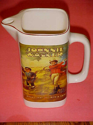 Johnnie Walker Whisky Pitcher Golf Still Going Strong Made In England Whiskey