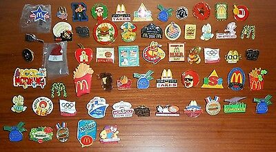 Employee McDonalds Crew PIN Collection Olympics Disney Tarzan Dinosaurs Monopoly