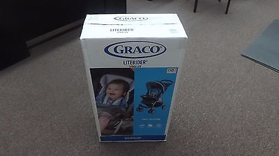 Lightweight Stroller, buggy, Blue baby carriage, Graco LiteRider Click Connect