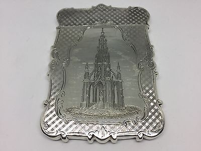 Solid Silver Castle Top Card Case Nathaniel Mills