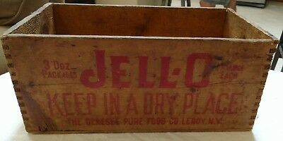 Vintage Wooden JELL-O Box Crate