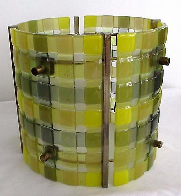 Vintage 50 60s Mid Century Modern Super RARE Higgins Studio Glass Shade for Lamp
