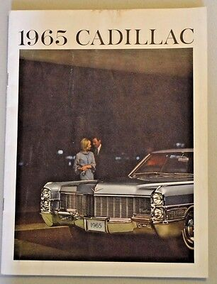 1965 Cadillac Dealership Sales Brochure, 20 Pages, Litho In U.s.a., Very Cool!