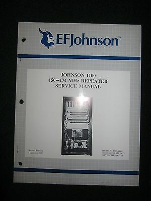 EF Johnson 1100 Series 150-174 MHz Repeater Service Manual 115/230 VAC 25-100W
