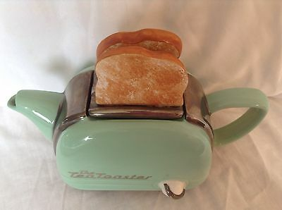Teapottery Swineside Novelty Teapot Green Retro Two Slice Toaster Grt Condition