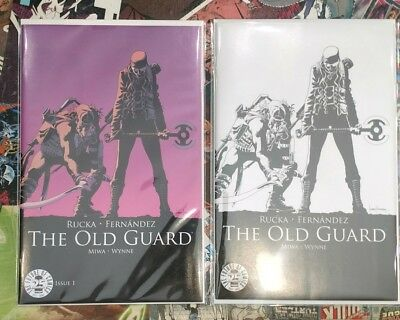 THE OLD GUARD 1 Color and Sketch IMAGE COMICS 25TH ANNIVERSARY BLIND BOX VARIANT