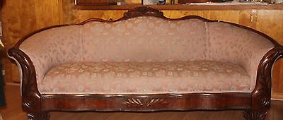 Antique Hand-Carved American Sofa Local Pickup Only