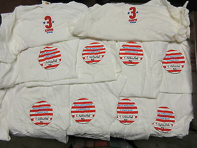 NEW - 10x WHOLESALE LOT BRUCE SPRINGSTEEN 3 SHOW CONCERT BAND T-SHIRT GIRLS XL