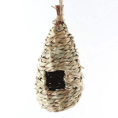 Natural Grass Woven Hanging Birdhouse Nest Bird Cages for Home Garden
