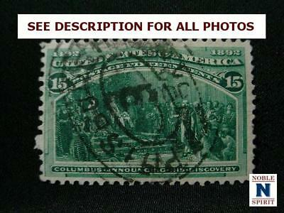 NobleSpirit NO RESERVE (TH1) Captivating US 238 Very Fine Used = $82.50 CV