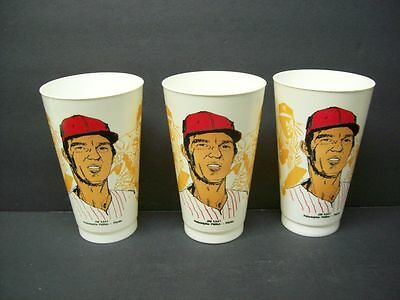 Lot (3) Philadelphia PHILLIES Jim Kaat 1976 MSA Plastic Photo Cups Unused RARE!!