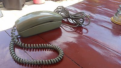 Vintage Western Electric Avocado Green Trimline Rotary Telephone