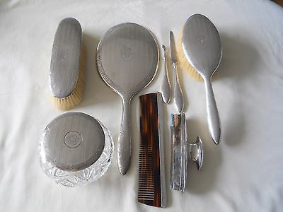 Birks Sterling 8 Pc Vanity Dresser Set