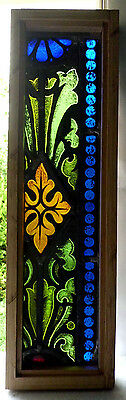 Antique Vtg Church Stained Glass Window Architectural Salvage W121
