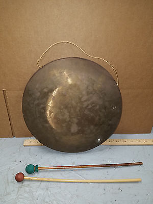 "Antique Vintage Ships ??? Copper Brass Gong  12""  Emergency Bell"