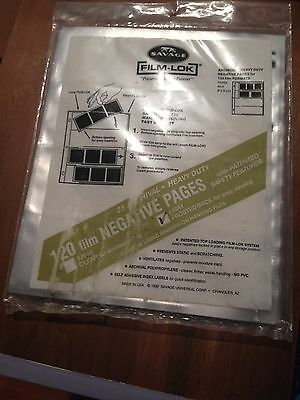 Savage Film-Lok 12041 frosted back 25 Pages Archival Heavy Duty Transparencies