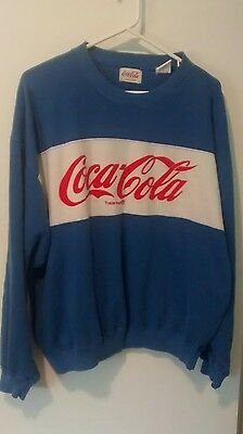 Vintage Coca Cola Sweatshirt Royal Blue with logo - size L, made in America