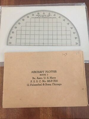 Vintage U.S. Navy Aircraft Plotter Mark 2 (G. Felsenthal & Sons)