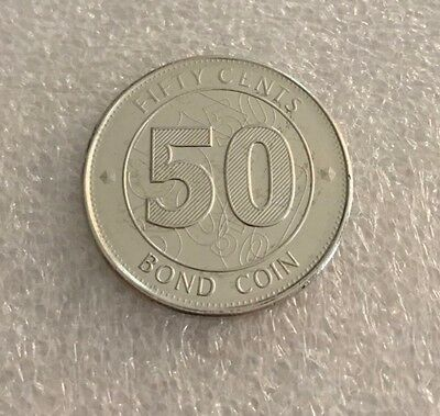 Zimbabwe 2014 50 Cents Bond Coin