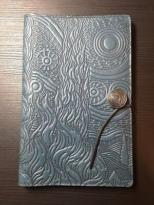 Oberon Design Large Moleskine Leather Cover Blue