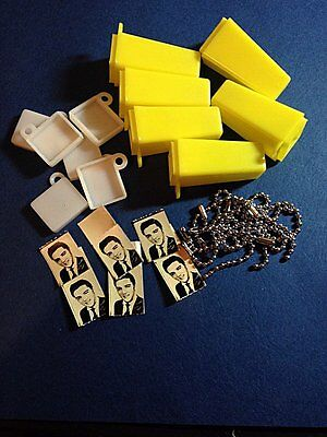 6 Vintage Photo Peep Viewer Keychains . Elvis or use your own Pic.