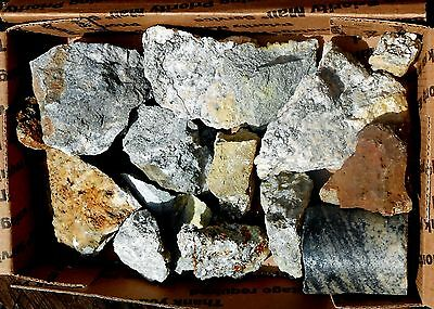 14 Gold & Silver Ore HUNKS Broken from the Mother Lode 55 oz  #930 Shop Clean Up