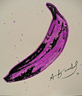 Original, Andy Warhol, Painting, Drawing, w/ Certificate, Signed, Banana