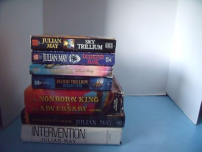 Science Fiction Fantasy Lot Of 7 Julian May*blood Trillium*sky Trillium*golden..