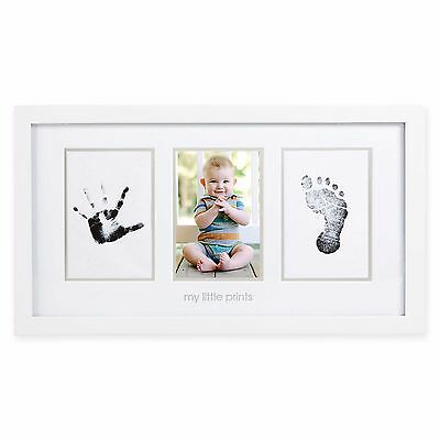 Baby Handprint Footprint Photo Frame Kit Home Wall Hanging Picture Holder Decor