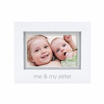 "4"" x 6"" Me And My Sister Tabletop Picture Frame Home Photo Display Holder Decor"