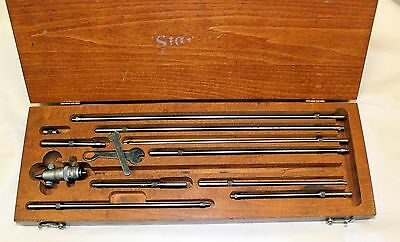 Starrett 124 Inside Micrometer in Wood Box