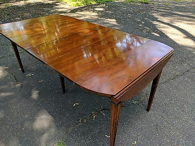 john widdicomb mahogany drop leaf dining table with extensions 1950's vintage
