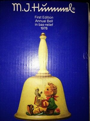 GOEBEL M.J. HUMMEL ANNUAL BELL 1978, 1st EDITION, NEW OLD STOCK