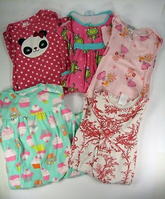Girls Gown Size Medium and Large Lot of 5 Nightgowns