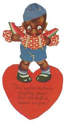 Vintage Black Americana Valentine - Melon and Eyes Move (MM137)