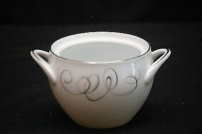 Vintage Rhythm by Style House Fine China Sugar Bowl Black & Gray Circular Japan