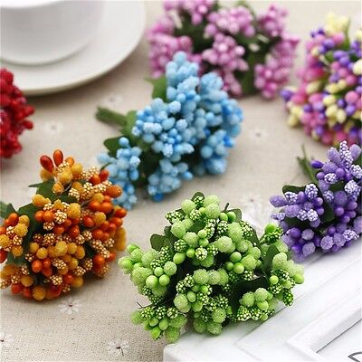 12*/bouquet Artificial Flower Stamen Wire Stem/Marriage DIY Wreath Wedding Decor
