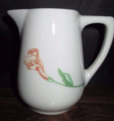 Mayer China Creamer Restaurant, Peach Flower, Green Stem