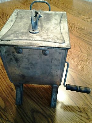 Antique Flour Sifter With Wooden Handles and Lid - Manufacturer: Fries
