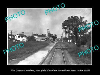 OLD LARGE HISTORIC PHOTO OF NEW ORLEANS LOUISIANA THE C/A RAILROAD DEPOT c1940