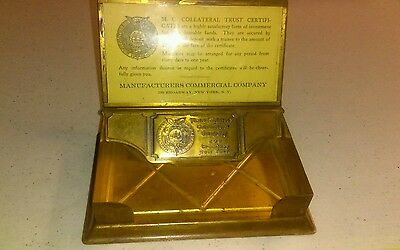 Vintage Manufactures Commercial Company Brass Advertising New York NY Banking