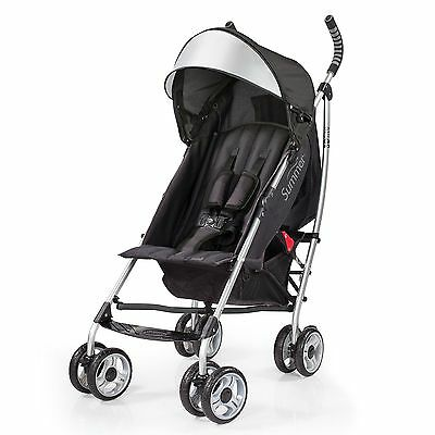 Baby Stroller With Basket Organizer Canopy Infant Single Seat Compact Black New
