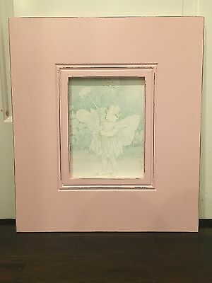 Framed fairy painting for a childrens room or nursery.