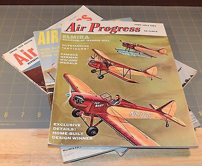 Air Progress back issue lot of 3 vintage magazines aviation aerospace airplanes