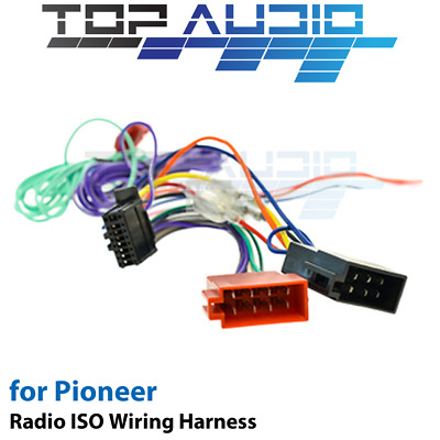 Pioneer AVH-295BT ISO Wiring Harness cable connector lead loom wire plug