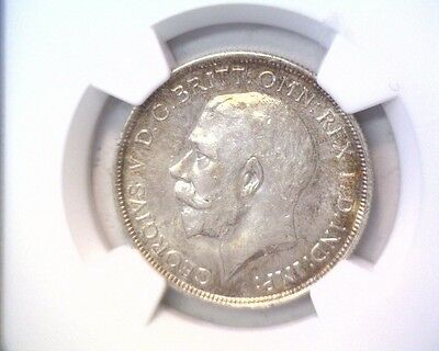 1918 Great Britain 2 Shillings / Florin Coin  NGC AU58