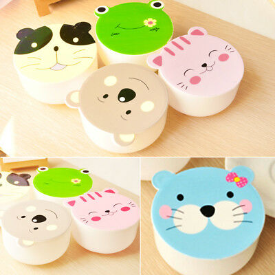 Children Round Lunch Box Cute Animal Bento Box Microwave Food Container Use HOT
